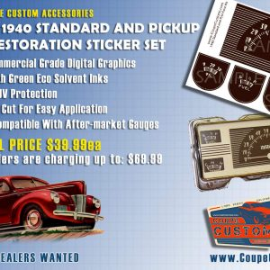 1940 Ford Standard and Truck Gauge Resto Set